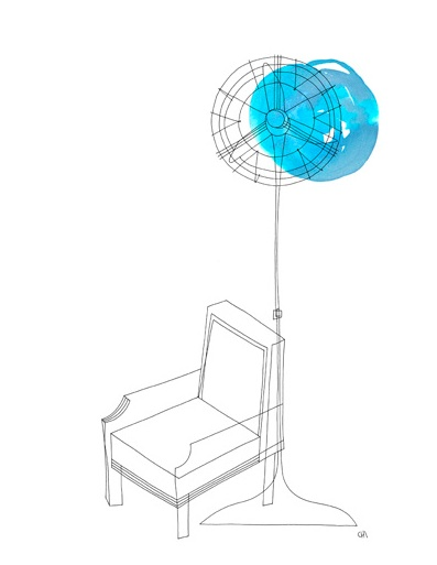 Fan and chair
